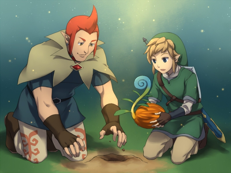 Link and Groose Plant the Tree of Life