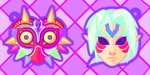 Majora's Mask and Fierce Deity Mask