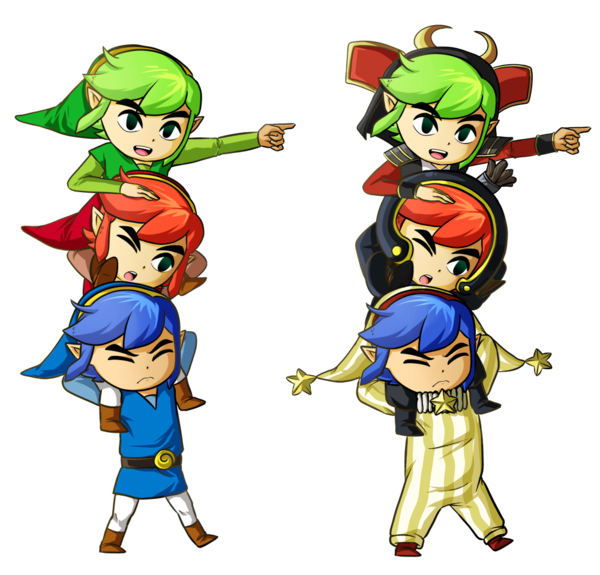 Triforce Heroes by Icy Snowflakes