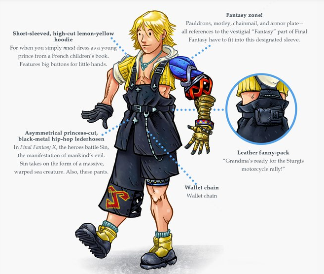 Tidus the Fashion Disaster by Nick Wanserski