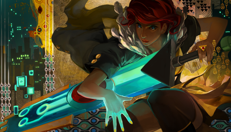 Transistor Concept Art Red and Sword Boyfriend